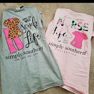 Bundle of two size medium Simply Southern shirts